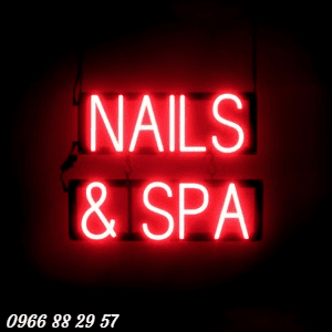 Bảng hiệu Nails Spa Massage Neon Sign đẹp