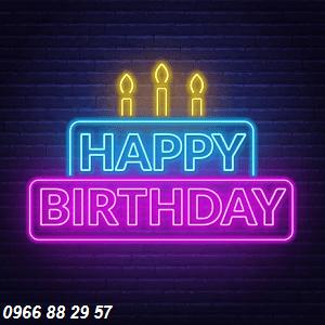 Mẫu chữ uốn Neon Sign tiệc sinh nhật